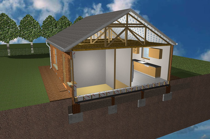 On frame modular home pictures.