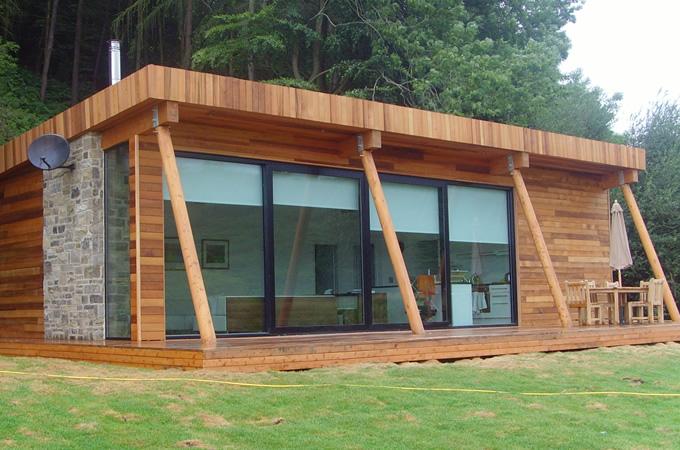 Homes Kits Small Timber Frame House Bristol Mountain